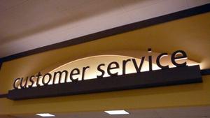 Customer-service-sign